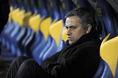 <p>L'allenatore dell'Inter Jose Mourinho. REUTERS/Paolo Bona</p>