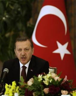 Turkey's Prime Minister Tayyip Erdogan speaks during a news conference in Riyadh March 9, 2010. REUTERS/Fahad Shadeed