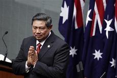 <p>Президент Издонезии Сусило Бамбанг Юдойоно во время выступления в парламенте Австралии в Канберре, 10 марта 2010 года. Президент Индонезии Сусило Бамбанг Юдойоно подтвердил, что полиции страны удалось уничтожить экстремиста, подозреваемого в организации взрывов на Бали в 2002 году. REUTERS/Tim Wimborne</p>