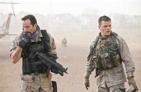 Jason Isaacs and Matt Damon in a scene from ''Green Zone''. REUTERS/Universal Pictures