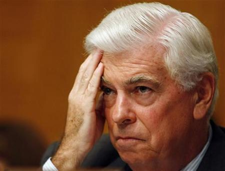 Senate Banking Committee Chairman Sen. Chris Dodd listens to testimony at the Senate Banking Committee on Capitol Hill in Washington, July 23, 2009. REUTERS/Larry Downing (