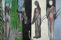 """<p>Fotografía del cuadro """"Bathers by a River"""" de Henri Matisse. Su carrera artística se extendió a lo largo de seis décadas pero los curadores de la muestra """"Henri Matisse: Radical Invention"""" se han enfocado en los años 1913 a 1917, cuando creó lo que el pintor determinó como sus """"cuadros más importantes"""". REUTERS/The Art Institute of Chicago/Handout</p>"""