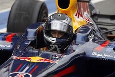 <p>Il pilota tedesco di F1 della Red Bull, Sebastian Vettel. REUTERS/Scott Wensley (AUSTRALIA - Tags: SPORT MOTOR RACING)</p>