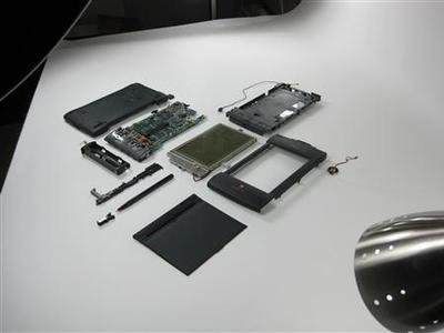 A broken down Newton Messagepad 2000 is seen disassembled in this undated handout file photo taken at the IFixit offices in Atascadero, California. REUTERS/iFixit/Handout