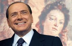 <p>Il presidente del Consiglio Silvio Berlusconi. REUTERS/Alessandro Bianchi</p>