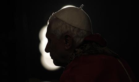 Pope Benedict XVI leads the Via Crucis (Way of the Cross) at the Colosseum in Rome, April 2, 2010. REUTERS/Max Rossi