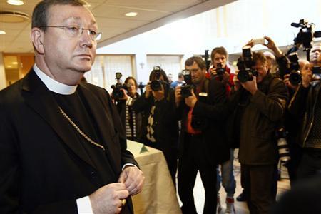 Norwegian Catholic Bishop Bernt Eidsvig attends a news conference in Oslo April 9, 2010. REUTERS/Heiko Junge/Scanpix Norway