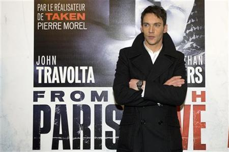 Actor Jonathan Rhys Meyers arrives at the premiere of ''From Paris With Love'' in Paris, February 11, 2010. REUTERS/Gonzalo Fuentes