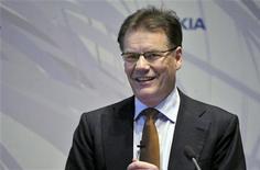 <p>Olli-Pekka Kallasvuo, presidente ed amministratore delegato di Nokia, in foto d'archivio. REUTERS/LEHTIKUVA/Kimmo Maentylae</p>