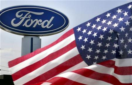 A Ford logo at a dealership in Manassas, Virginia, August 3, 2009. REUTERS/Larry Downing