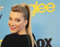 """<p>La actriz Heather Morris durante la fiesta realizada en honor al estreno de la segunda temporada de la serie de televisión """"Glee"""" en Los Angeles, abr 12 2010. La comedia musical """"Glee"""", sobre una escuela secundaria, casi duplicó su audiencia en el regreso a la televisión luego de una ausencia de cuatro meses, con 13,7 millones de espectadores, dijo el miércoles la cadena Fox. REUTERS/Mario Anzuoni</p>"""