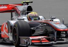 <p>Lewis Hamilton nelle libere del GP di Shanghai. REUTERS/Jason Lee (CHINA - Tags: SPORT MOTOR RACING)</p>