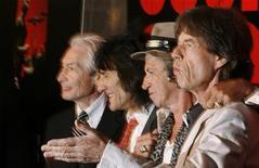 """<p>Il gruppo rock """"Rolling Stones"""" in foto d'archivio. REUTERS/Lucas Jackson</p>"""