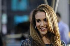 "<p>Actress Alyssa Milano poses at the premiere of ""Clash of the Titans"" at the Grauman's Chinese theatre in Hollywood, California March 31, 2010. REUTERS/Mario Anzuoni</p>"