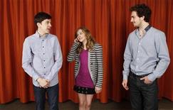 "<p>Actors (L-R) Christopher Mintz-Plasse, Chloe Moretz, and Aaron Johnson pose for a portrait during a media day promoting the film ""Kick-Ass"" in New York April 8, 2010. REUTERS/Lucas Jackson</p>"