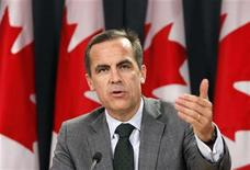 <p>Bank of Canada Governor Mark Carney speaks during a news conference upon the release of the Monetary Policy Report in Ottawa October 22, 2009. REUTERS/Chris Wattie (</p>