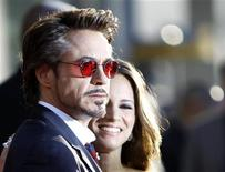 "<p>Cast member Robert Downey Jr. and his wife Susan arrive at the premiere of the movie ""Iron Man 2"" at El Capitan theatre in Hollywood, California April 26, 2010. REUTERS/Mario Anzuoni</p>"