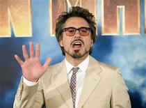 <p>Actor Robert Downey Jr. poses during a photocall for the movie Iron Man 2 in Los Angeles, California in this April 23, 2010 file photo. REUTERS/Gus Ruelas</p>
