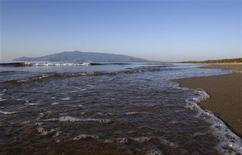 <p>Una vista della spiaggia della Feniglia, a Porto Ercole, in Toscana, una delle località Bandiera Blu 2010 REUTERS/Tony Gentile</p>