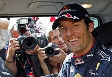 <p>Il pilota della Red Mark Webber. REUTERS/Giampiero Sposito</p>