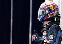 <p>Il pilota della Red Bull Mark Webber. REUTERS/Leonhard Foeger</p>