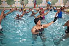 <p>People take part in a water aerobics class at the Bedford-Stuyvesant YMCA in Brooklyn, New York, March 2010. REUTERS/YMCA of Greater New York/Handout</p>