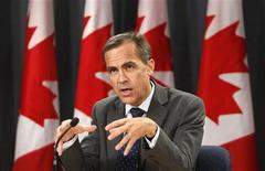 <p>Bank of Canada Governor Mark Carney speaks during a news conference upon the release of the Monetary Policy Report in Ottawa April 22, 2010. REUTERS/Chris Wattie</p>