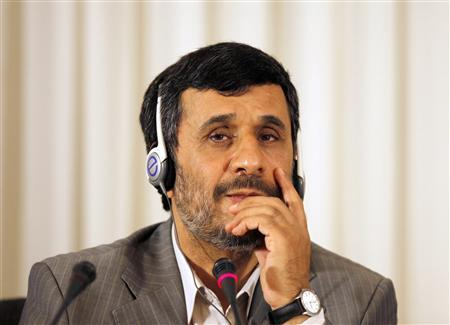Iranian President Mahmoud Ahmadinejad listens to a journalist's question during his news conference in Istanbul June 8, 2010. The nuclear fuel swap deal reached between Iran and Turkey and Brazil is an opportunity that will not be repeated, Ahmadinejad said on Tuesday. REUTERS/Osman Orsal