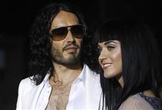 "<p>Cast member Russell Brand (L) and singer Katy Perry pose at the premiere of ""Get Him to the Greek"" at the Greek theatre in Los Angeles May 25, 2010. REUTERS/Mario Anzuoni</p>"