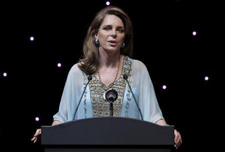 Queen Noor AL Hussein of Jordan, widow of late King Hussein, speaks at the Dubai International Film Festival in Dubai in this December 14, 2009 file photo. REUTERS/HO/DIFF
