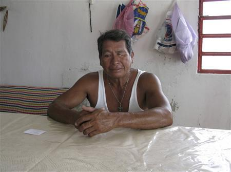 Misterveel Rodriguez speaks to Reuters at his home in Nuevo Campechito June 9, 2010. Within a week of the explosion of Mexico's Ixtoc offshore oil well in June 1979, Misterveel Rodriguez and other village fishermen were pulling up nets choked with tarballs instead of red snapper. REUTERS/Robert Campbell