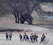 <p>Игроки сборной Бразилии во время тренировки в Йоханнесбурге 29 июня 2010 года. REUTERS/Paulo Whitaker</p>