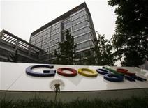 <p>El frontis de las oficinas de la compañía Google en Pekín, jun 30 2010. Google Inc podría enfrentar más presión por sus productos en China, en momentos en que Pekín debe decidir si le renueva una licencia para el motor de búsqueda insignia de la firma en el mayor mercado de internet del mundo. REUTERS/Bobby Yip</p>