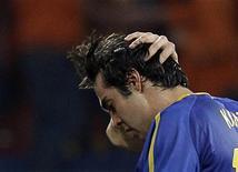 <p>Kaká após a eliminação do Brasil nas quartas de final contra a Holanda. 02/07/2010 REUTERS/Paulo Whitaker</p>
