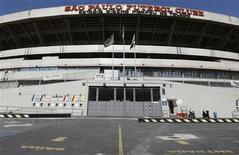 <p>Estádio do Morumbi. O presidente do comitê organizador local e da CBF, Ricardo Teixeira, disse que o tempo de São Paulo está acabando caso a maior cidade da América do Sul queira sediar partidas da Copa do Mundo de 2014, disse. 08/07/2010 REUTERS/Nacho Doce</p>