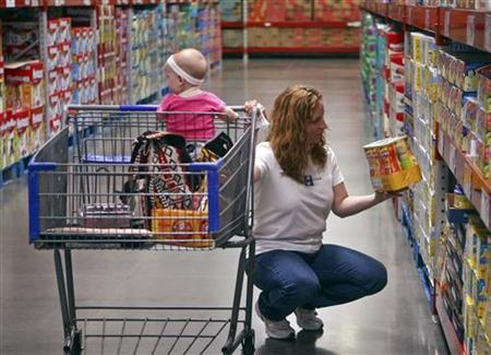 A customer shops in the expanded baby department at a remodelled Sam's Club in Rogers, Arkansas, June 3, 2010. REUTERS/Sarah Conard