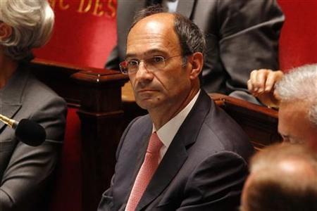 French Labour Minister Eric Woerth (C) attends the government questions session at the National Assembly in Paris July 13, 2010. REUTERS/Benoit Tessier
