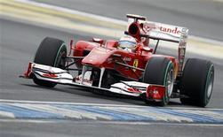 <p>Fernando Alonso, da Ferrari, foi o mais rápido em treino para o GP da Alemanha de Fórmula 1. REUTERS/Thomas Peter</p>