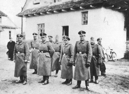 SS camp personnel at the Nazi death camp of Belzec, near the Polish city of Lublin. REUTERS/Courtesy Yad Vashem Archives