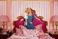 <p>Designer Betsey Johnson poses for a portrait inside the Eloise Suite at the Plaza hotel in New York July 29, 2010. REUTERS/Lucas Jackson</p>