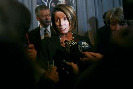House Speaker Nancy Pelosi speaks to reporters in San Francisco, California January 8, 2010. REUTERS/Robert Galbraith