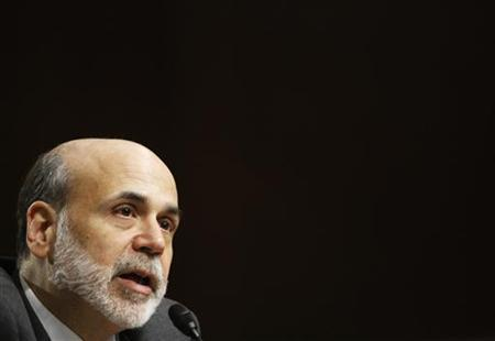 Federal Reserve Board Chairman Ben Bernanke testifies before the Senate Banking, Housing and Urban Affairs Committee in a hearing on ''The Semiannual Monetary Policy Report to the Congress,'' on Capitol Hill in Washington July 21, 2010. REUTERS/Molly Riley