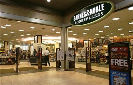 A view of the Barnes and Noble bookstore on the corner of Warren and Greenwich street in New York June 29, 2010. REUTERS/Lily Bowers