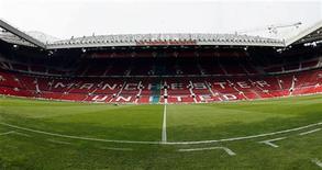 """<p>Вид на стадион клуба """"Манчестер Юнайтед"""" """"Олд Траффорд"""" в Манчестере 22 апреля 2006 года. Матчи второго тура чемпионата Англии по футболу пройдут с 21 по 23 августа. REUTERS/Phil Noble</p>"""