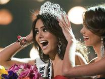 <p>Miss Mexico Jimena Navarrete, of Guadalajara, reacts as she is crowned Miss Universe 2010 during the Miss Universe pageant at the Mandalay Bay Events Center in Las Vegas, Nevada August 23, 2010. REUTERS/Miss Universe Organization/Handout</p>