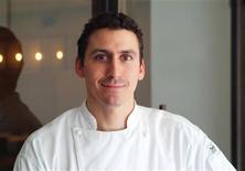 <p>American chef Brad Farmerie poses at Farmerie's New York Michelin-star restaurant, Public in this undated handout photo. REUTERS/Yuki Kuwana/Handout</p>