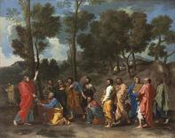 "<p>""Ordination"", a painting by French master Nicolas Poussin, is seen in this undated handout image received in London September 4, 2010. Christie's expects the major work to fetch 15-20 million pounds ($23-31 million) when it goes under the hammer in London on Dec. 7. REUTERS/Christie's/Handout</p>"