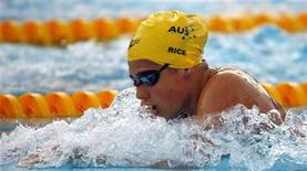 <p>Stephanie Rice of Australia competes in the women's 400m individual medley swimming final at the World Championships in Rome August 2, 2009. REUTERS/Wolfgang Rattay</p>