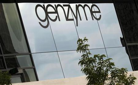 A sign marks the headquarters of Genzyme in Cambridge, Massachusetts August 3, 2010. REUTERS/Brian Snyder