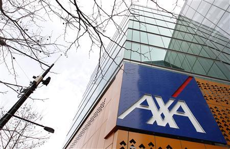 The AXA Asia Pacific logo sign is seen on a signboard at its headquarters in Melbourne September 9, 2010. Australia's competition regulator has blocked National Australia Bank's $12 billion bid for AXA Asia Pacific for a second time, dealing a blow to NAB's efforts to cement its dominance in the world's fourth-largest wealth management market. REUTERS/Mick Tsikas